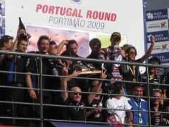 The team on the podium